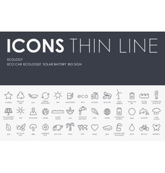 Ecology Thin Line Icons vector
