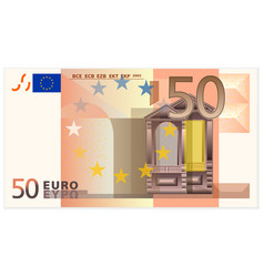Fifty euro banknote vector