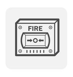 Fire alarm button vector