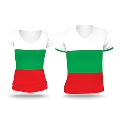 Flag shirt design of Bulgaria vector image