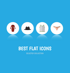 Flat icon dress set of lingerie clothes singlet vector