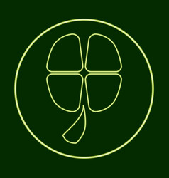 Four-leaf clover coin stpatrick s day vector