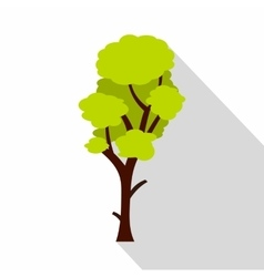 Green linden icon flat style vector