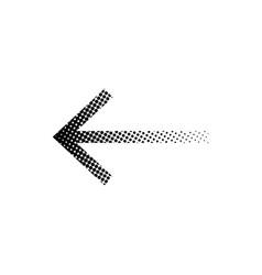 halftone arrow icon eps10 vector image