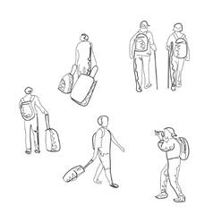 Hand drawn tourist sketch vector