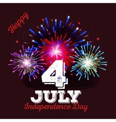 happy fourth july independence day vector image
