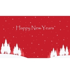 Happy New Years with red sky scenery vector
