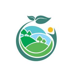 healthy land logo vector image
