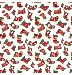 Holiday Christmas seamless background vector