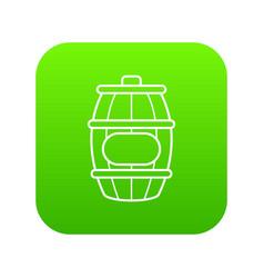 Honey barrel icon green vector