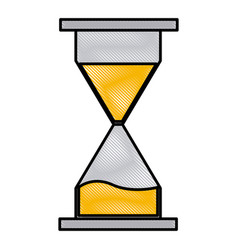 hourglass time symbol vector image