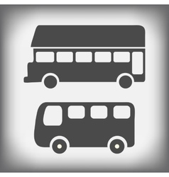 icons bus vector image