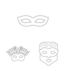 Isolated object masquerade and mystery symbol vector