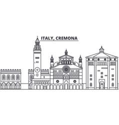 Italy cremona line skyline vector