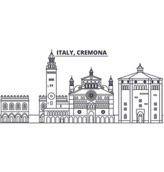 italy cremona line skyline vector image