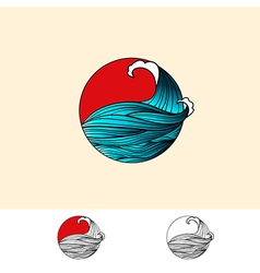 Japan Style Ocean Water Logo vector