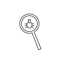 Malware bug search icon vector