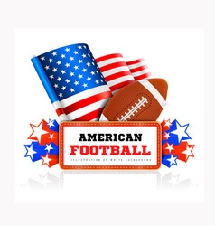 Marquee board announcement with amercain football vector