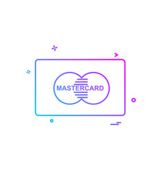 master card icon design vector image
