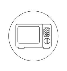 Microwave oven icon design vector