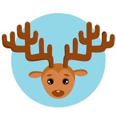 New years deer vector image