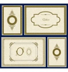 parchment frames vector image