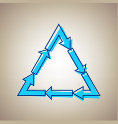 Plastic recycling symbol pvc 3 plastic recycling vector
