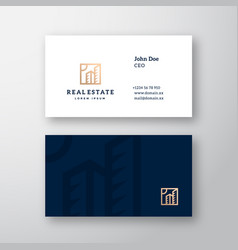 real estate abstract elegant logo and vector image