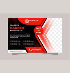 red and black corporate business flyer vector image