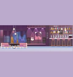 restaurant interior cartoon vector image