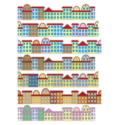 Rows of color buildings vector