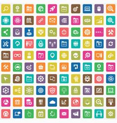 seo 100 icons universal set for web and ui vector image