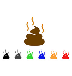 Shit smell icon vector
