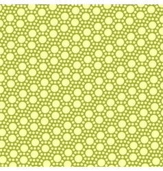 Simple yellow gold dot pattern vector image