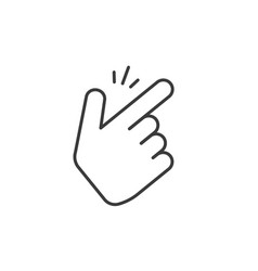 snap fingers icon thin line outline art vector image