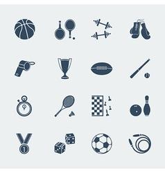 Sports equipments of flat design vector image