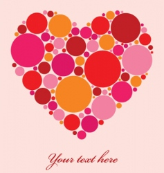 Spotty heart vector