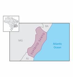 state of espirito santo map vector image