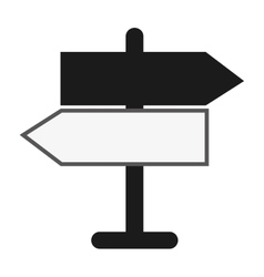 Street name sign icon vector