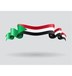 Sudan wavy flag vector image