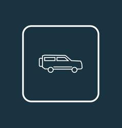 suv icon line symbol premium quality isolated vector image