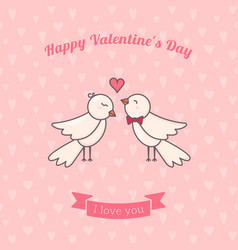 sweet birds couple vector image