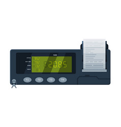 Taximeter device calculating equipment for taxi vector