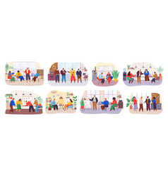 teamwork or team building office business meeting vector image