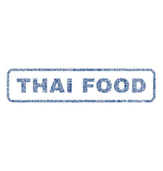 Thai food textile stamp vector