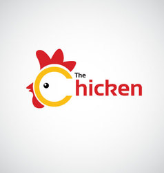 The Chicken icon design vector image