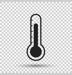 thermometer icon goal flat on isolated background vector image