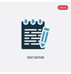 Two color text editor icon from technology vector