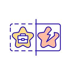 Unjustified work hopes rgb color icon vector