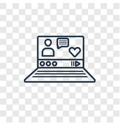 Vlogger concept linear icon isolated on vector
